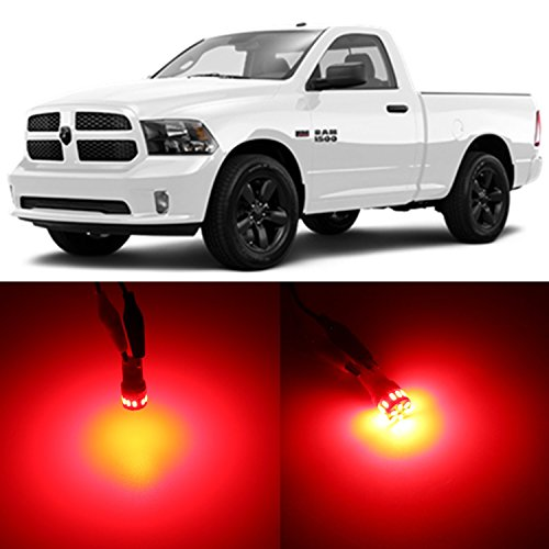 Alla Lighting 2x Super Bright Red 921 W16W LED Bulbs for Center High Mounted Stop Lamps for 1994~2005 2006 2007 2008 2009 2010 2011 2012 2013 2014 2015 2016 2017 Dodge Ram 1500 2500 3500 4500 5500