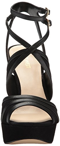 Nine West Women's Valeska Leather Heeled Sandal Black Leather for nice online gsqDqYrP