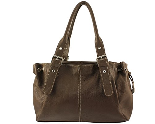 Pelle Luce Liscio Donna Tote Marrone Bag Chloly fnBFwIUE