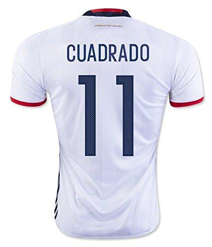 帝国主義快適排気Cuadrado #11 Colombia Home Soccer Jersey Copa America Centenario 2016/サッカーユニフォーム コロンビア ホーム用 クアドラード 2016