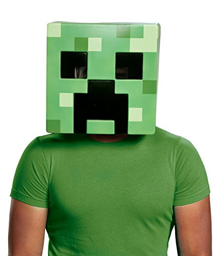 Disguise Minecraft Creeper Adult Costume Mask Adult One