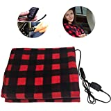 featured product Hamosky Electric Heating Blanket, 12V Lattice Fleece Car Supplies Winter Hot Car Constant Temperature Heating Blanket for Travel Camping Picnic Heater 55.12x39.37in/145x100cm (Red Blanket)