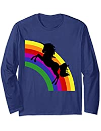 Unicorn Silhouette with Rainbow Swearshirt, Magic, Unicorn