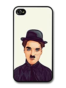 AMAF ? Accessories Charlie Chaplin Illustration case for iPhone 4 4S by lolosakes