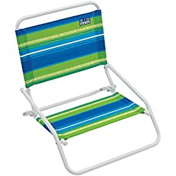 RIO Beach Wave 1-Position Beach Folding Sand Chair - Sea Stripes