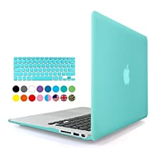 Eastchina® 2 in 1 Ultra Slim Light Weight Soft-Touch Plastic Hard Shell Case Cover & Keyboard Cover for 13 Inches Apple Macbook Pro 13'', Model: A1278 (Macbook Pro 13'', Turquoise)
