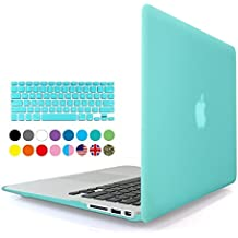 Eastchina 2 in 1 Ultra Slim Light Weight Soft-Touch Plastic Hard Shell Case Cover & Keyboard Cover for 13.3 Inches Apple Macbook 13.3'', Model: A1369 | A1466 (Macbook Air 13'', Turquoise)