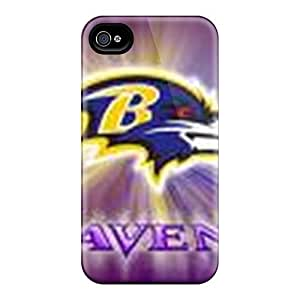 High Impact Dirt/shock Proof Case Cover For Iphone 4/4s (baltimore Ravens)