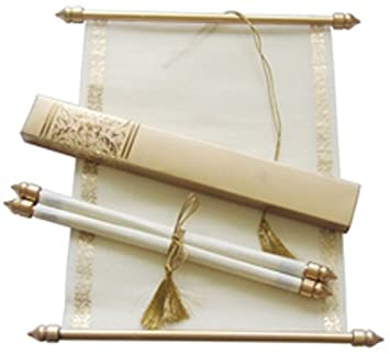 100 Personalised Elegant Ivory Day Evening Wedding Scroll