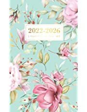 2022-2026 5 Year Pocket Planner: 60 Month Calendar Pocket Planner, Small Agenda Schedule Organizer Notebook, Five Year Appointment Book JANUARY 2022 to DECEMBER 2026, Flower Cover