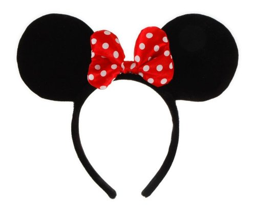 Disney Mickey Ears Headband (Elope Disney Minnie Mouse Costume Ears Headband with Bow)