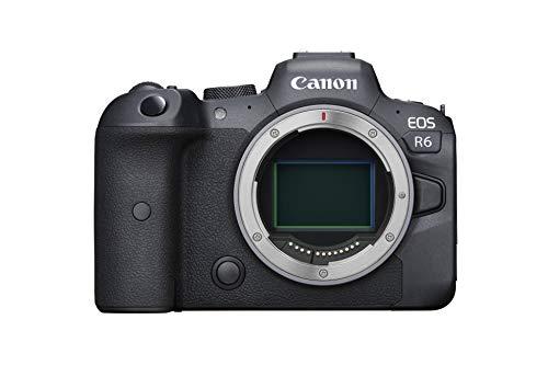 Canon EOS R6 Full-Frame Mirrorless Camera with 4K Video, Full-Frame CMOS Senor, DIGIC X Image Processor, Dual UHS-II SD…