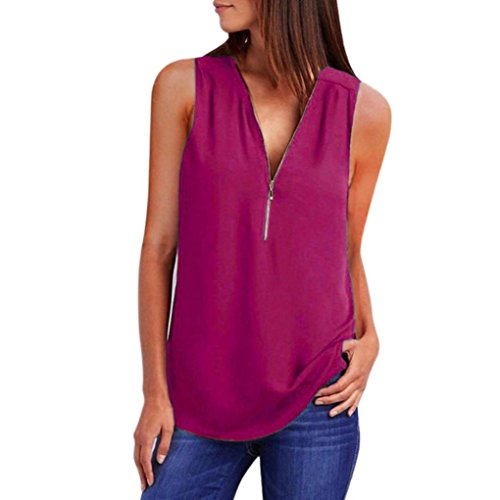 FEITONG Fashion Women Casual Sleeveless Tops T-Shirt Loose Z