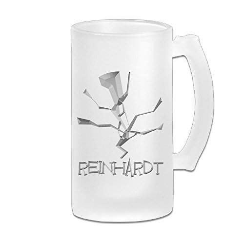 CEDAEI OW Reinhardt OverReinhardt Watch Video Game Character Skill Logo Beer Glass Frosted White Pub COOL 16-Ounce - Logo Sunglasses R