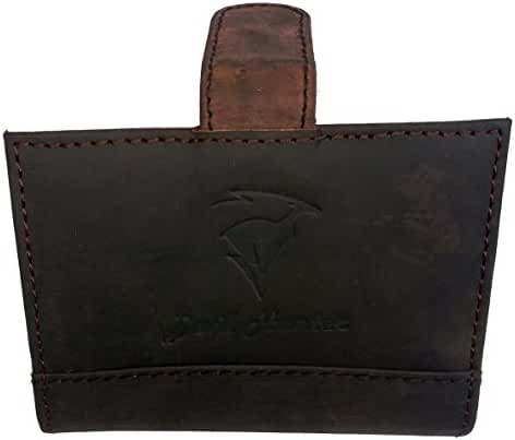 DH Genuine Leather Thin Business Card Case credit card holder