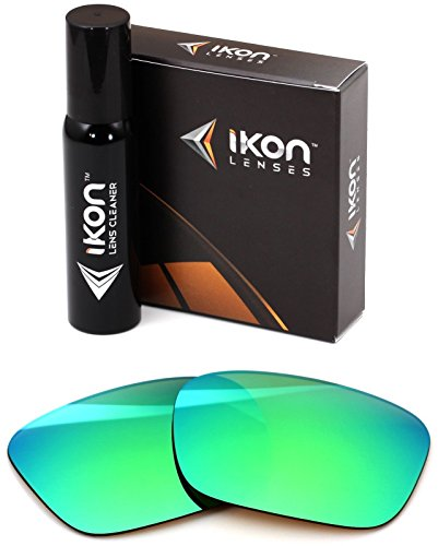 Polarized Ikon Iridium Replacement Lenses For Electric Knoxville Sunglasses - Emerald Green - Glasses Knoxville