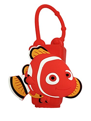 Travel Bottle Holders Finding Dory Nemo PVC Embossed Lotion Hand Gel Sanitizer Holder Case Cover, Nemo, 1 -