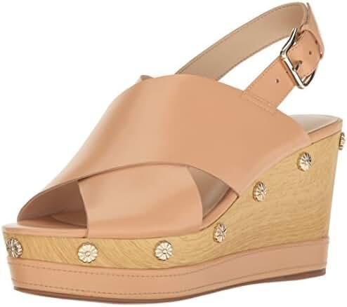 Nine West Women's Vanessa Leather Wedge Sandal