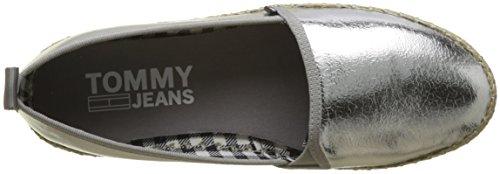 silver 000 Woman On Jeans Silver Espadrillas Sporty Metallic Slip Tommy gOzwT8qO