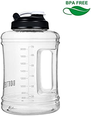 BOTTLED JOY Sports Water Bottle 2.5L with Spill Proof Lid and BPA Free Material Portable and Reusable for Outdoor Sports Like Cycling Camping Hiking ...