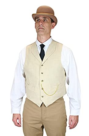 Men's Vintage Vests, Sweater Vests Thatcher Linen Vest $59.95 AT vintagedancer.com