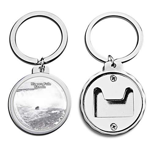 Canada Niagara Falls Bottle Opener Keychain Mini Bottle Cap Opener Keychain Creative Sketch Crystal Key Chain Travel Souvenirs Metal