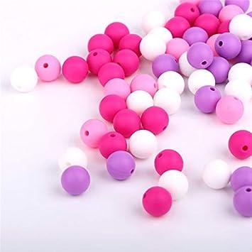 Amazon.com: 40 perlas de silicona para bebé, juguetes para ...