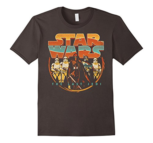 Mens Star Wars Last Jedi Vintage Retro Kylo Ren Graphic T-Shirt Medium Asphalt