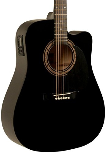 Best Rogue Guitars - Rogue RA-090 Dreadnought Cutaway Acoustic-Electric Guitar