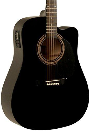 - Rogue RA-090 Dreadnought Cutaway Acoustic-Electric Guitar Black
