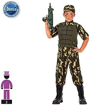 Atosa- Disfraz Militar, 3 a 4 años (10951): Amazon.es: Juguetes y ...