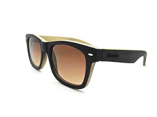 facfe40653a0 Amazon.com  WOODIES Black Full Bamboo Wood Polarized Sunglasses ...