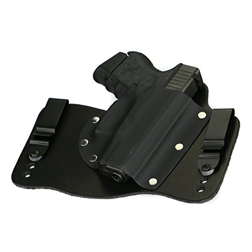 (FoxX Holsters Glock 26, 27, 33 in The Waist Band Hybrid Holster (Black) )