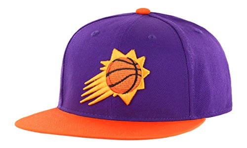 NBA Phoenix Suns Adult Gallant Ots Varsity Snapback Adjustable Hat, One Size, Purple