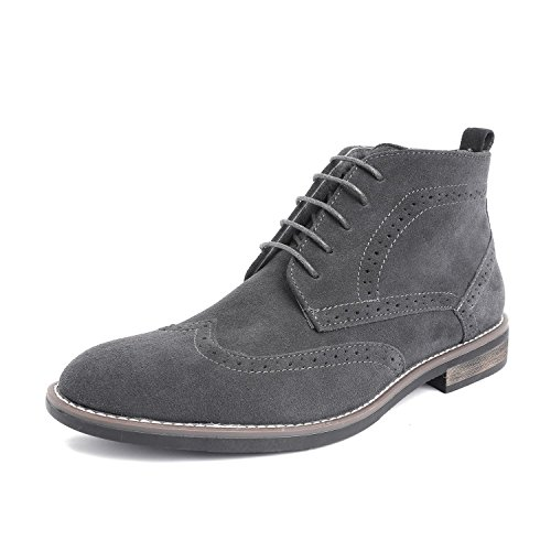 Bruno Marc Men's URBAN-02 Grey Suede Leather Lace Up Oxfords Desert Boots Size 14 M ()