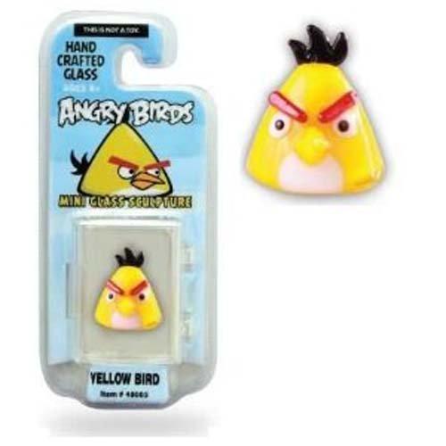 Angry Birds 1 Inch Glass Mini Figure Limited Edition Yellow Bird Brainstorm