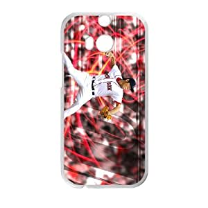 HTC One M8 Cell Phone Case White Boston Red Sox VBK Phone Case Maker