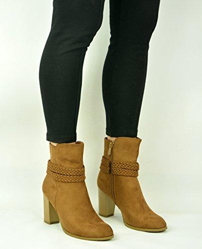 Cucu Fashion - Zapatos de tacón  mujer marrón claro