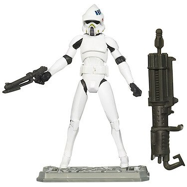 Star Wars Clone Wars 2010 Animated Figure ARF Trooper #18 - Star Wars Arf Trooper