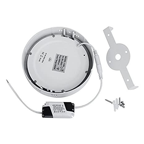 LED Driver Included G.W.S/® 12W Dimmable Round Circle LED Surface Mounted Panel Downlight Ceiling Light Warm White