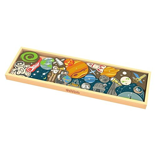 BeginAgain Space A to Z Wooden Puzzle ACLNY I1701