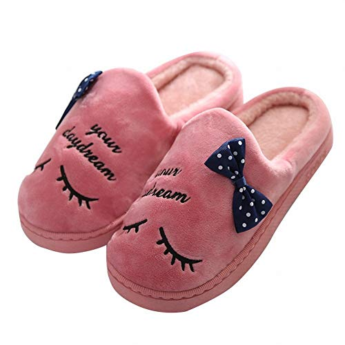 Autumn Comfortable Warm DEED and Couple Indoor and Slippers Men Cotton Home Slippers Slippers Red Women Cotton Winter Slippers xazHqYfwa