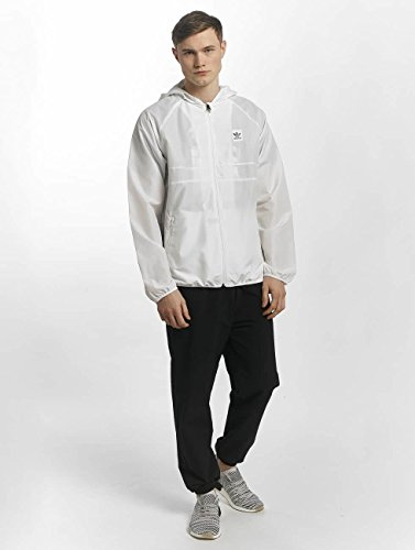 adidas BB Wind Jacket Chaqueta, Hombre blanco (blanco/Blanco)