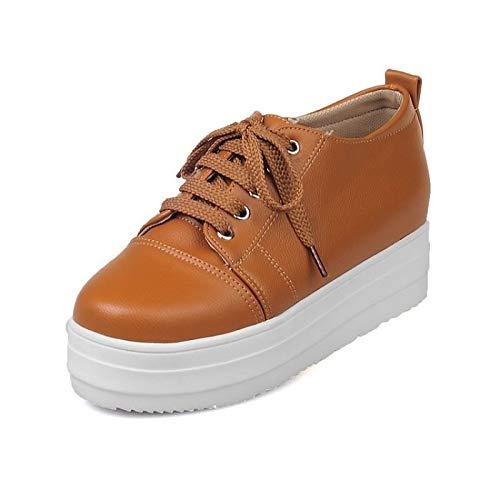Comfort ZHZNVX Beige Creepers PU Sneakers Scarpe Mandorla Estate da donna poliuretano Yellow Primavera amp; Giallo qtPartwT