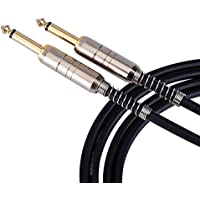 CAHAYA Speaker Cable Noiseless Audio Cable 6.5mm 1/4 Jack Male to Male 10ft with 3m Cable for Electric Keyboard Guitars