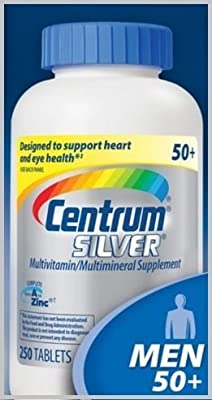 Csc17 Centrum Silver Multi-vitamin Multi-mineral Supplement Complete From A to Zinc to Support Heart and EYE Health for MEN Over 50+ - 250 Tablets Bottle