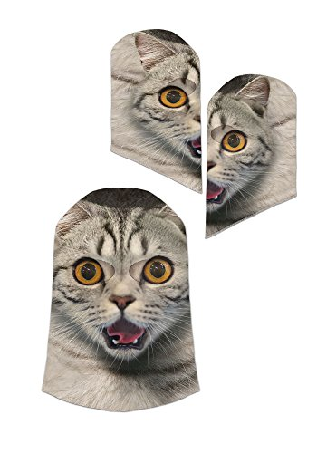 Faux Real Animal Cat Face Mask - One Size Fits (Multi Polyester)