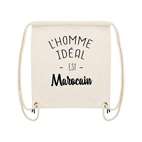 Marocain Sac Lookmykase gym Beige Coton Lmk L'homme Est Ideal qwwPp0