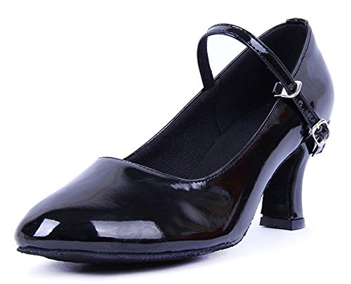 B M Women's Honeystore US Mary Toe Black Dance Jane Shoes Closed 5 zqqRnaBxvT