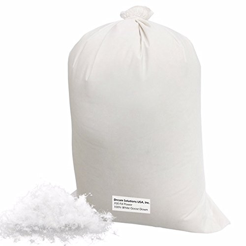Bulk Goose Down Filling (5 lbs.) 700 Fill Power - 100% Natural White, No Feathers - Fill Comforters, Pillows, Jackets and More - Ultra-Plush Hungarian Softness - Dream Solutions USA Brand by Dream Solutions USA